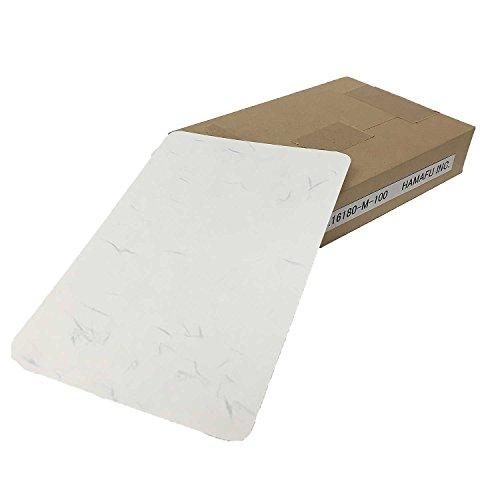 和紙調両面無地ハガキ(しこくてんれい・厚手)【角丸】 (100x148) 180kg 【100枚】