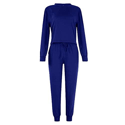 PRJN Conjuntos de Pijamas para Mujer, 2 Blusas y Pantalones de Manga Larga, Ropa de Dormir para Damas, Pijamas, Conjuntos de Pijamas para Mujeres, Conjuntos de Pijamas para Mujeres, Ropa