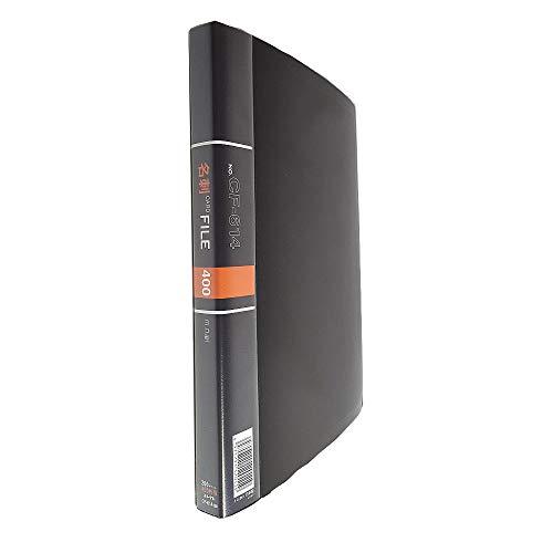 コレクト 名刺カードファイル 黒 A4判 CF-614-BK