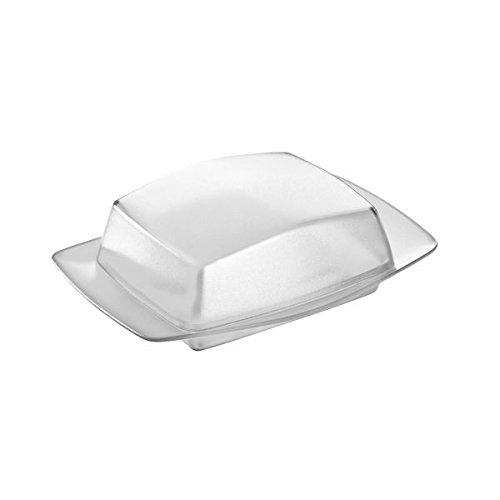 Koziol Butterdose Rio, Kunststoff, schwarz mit transparent anthrazit, 12.1 x 17.5 x 5.8 cm