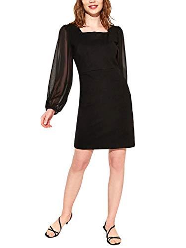 LC WAIKIKI Damenkleid mit Tüll-Detail und Quadratischem Kragen