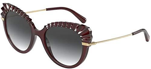 Gafas de Sol Dolce & Gabbana PLISSÈ DG 6135 TRANSPARENT RED/GREY SHADED 53/19/140 mujer