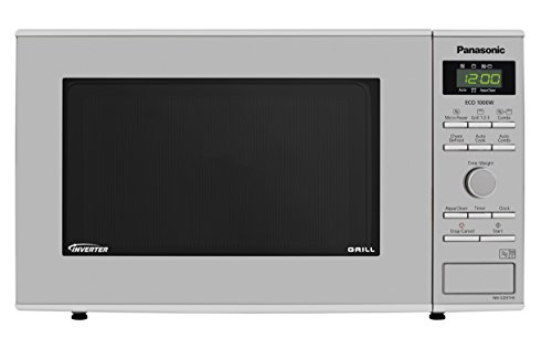 Panasonic NN-GD37HSBPQ Microwave Oven with Grill and Turntable, 1000 W, 23 Litres, Silver