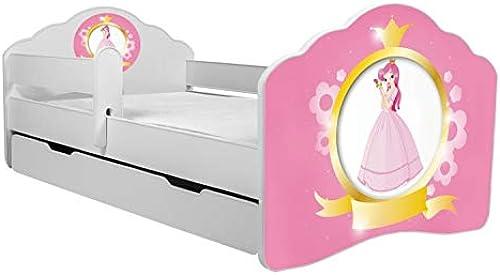 el más barato Kobi Cama Cama Cama Infantil de Princesa, 160 x 80 cm, con colchón y cajón  garantía de crédito