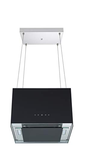 respekta Design-Inselhaube 50 cm, Schwarz mit Fernbedienung Typ/Modell: CH 11050 ISB