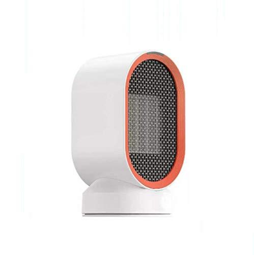 Calefactor Calefacción auxiliar, 600W Pequeño Mini tranquila Calentador con termostato del calentador de cerámica personal Fast Ventilador de escritorio de oficina, hogar, dormitorio, interior.