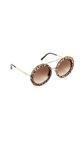 Dolce & Gabbana 0DG2198 Gafas de sol, Gold/Bordeaux Leo, 63 para Mujer