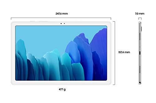 Samsung Galaxy Tab A7, Android Tablet, LTE, 7.040 mAh Akku, 10,4 Zoll TFT Display, vier Lautsprecher, 32 GB/3 GB RAM, Tablet in Silber