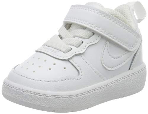 Nike Court Borough Low 2, Bebé Unisex, Blanco (White/White/White 100), 21 EU