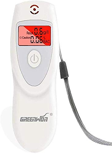 GREENWON Breathalyzer, Non-Contact Breathalyzer, Portable Breathalyzer, Alcohol Tester, Police Breath Analyzer Detector, Breathalizer for Alcohol, Personal Breathalyzer, White