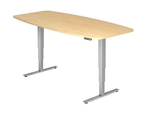 bümö® ergonomischer Konferenztisch elektrisch höhenverstellbar   elektrischer Besprechnungstisch   höhenverstellbarer Meetingtisch mit...