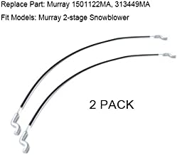 HAKATOP 2pk-Front Lower Drive Traction Auger Cable Used on Craftsman 2-Stage Snowblower Replaces Murray 1501122MA 313449MA
