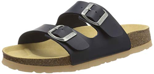 Superfit Jungen FUSSBETTPANTOFFEL_8-00111-00 Pantoffeln , Blau (Ocean 80), 33 EU