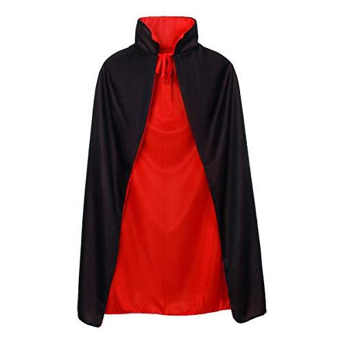 CUSFULL Vampire Dracula Devil Cloak Cape Medieval Reversible Halloween...