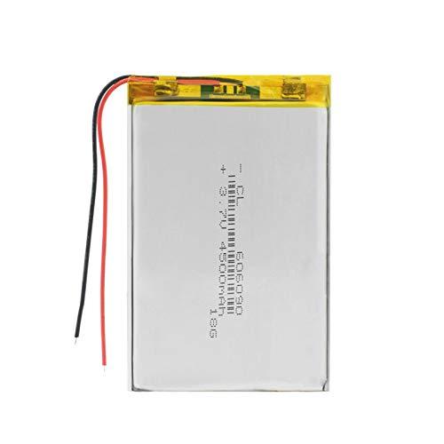 THENAGD 606090 3.7v 4500mah BateríAs De Litio De PolíMero Lipo Recargables, Premium con MóDulo De Carga De PCB Protector 4pieces