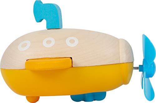 small foot 11657 Wasserspielzeug Aufzieh-U-Boot aus Holz, Aufziehspielzeug fürs Wasser, für Kinder ab 24 Monaten Spielzeug