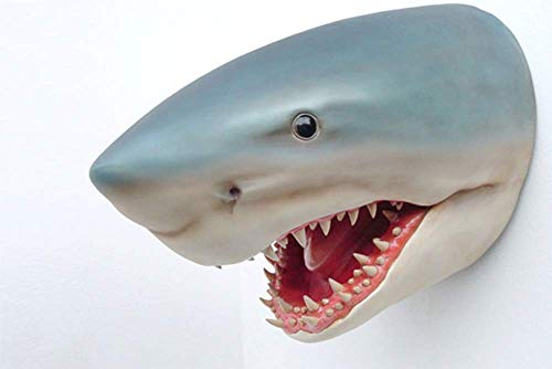 Premium XXL Haikopf lebensgross Shark Fisch Haifisch Hai Deko zum hinstellen oder aufhängen inkl. Spedition