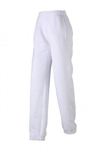 JAMES & NICHOLSON Laufhose Jogging Pantalons - Maternité Femme, Blanc (White), (Taille Fabricant: X-Large)