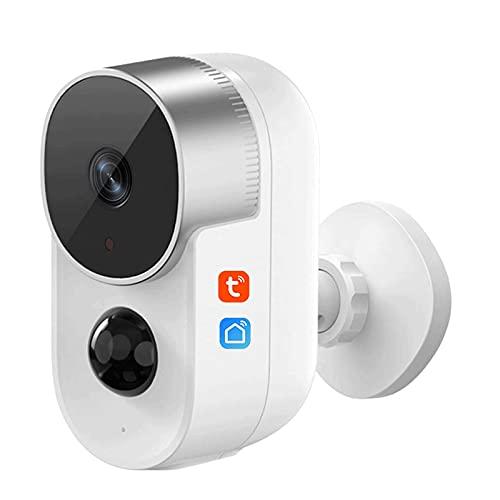 HLSH IP-Kamera, HD 1080P AI PIR-Bewegungserkennungs-CCTV-Überwachung, 2-Wege-Audio, IP65-Nachtsicht-Überwachungskamera, Kompatibel Mit Alexa, Kamera(Size:Camera+64G)