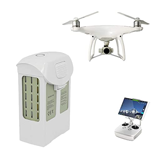 Li-Polymer Akku 5870mAh (15.2V) passend für die DJI Phantom 4-Serie Drohne,Hochleistungs-Smart-Akku,Weiß,Volle Kompatibilität, Drohne markenakku,Batterie für DJI Drohne Phantom 4-Serie