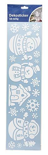 III decoratieve sneeuwpop met glitter, 18-delig, meerkleurig