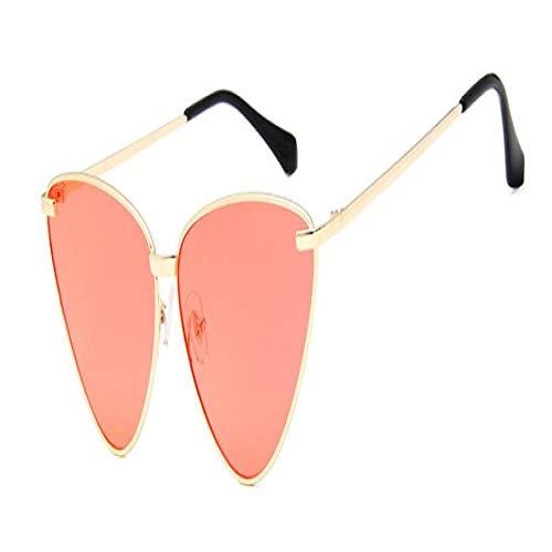 Gafas De Sol Polarizadas Nuevas Gafas De Sol De Ojo De Gato Retro Sexis para Mujer, con Montura Metálica Vintage, Lentes Transparentes, Gafas De Sol para Mujer Uv400 Oculos C7