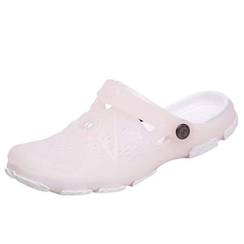 Clogs Hausschuhe Badeschuhe Zehentrenner Pantoletten Sandalen Trekking Sandalen Bade Sandalen Flops Offroad Sneaker Erholungsschuhe Pantoffeln (36,Beige)