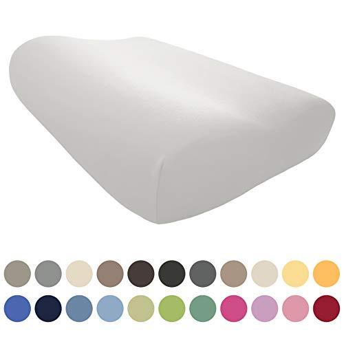 EddaLux Bezug für Tempur ORIGINAL S/M/L/XL Schlafkissen | Hochwertiger Jersey-Kissenbezug für Nackenstützkissen | 50x31 cm | 50x30 cm | 100% Baumwolle | Farbe: Weiß