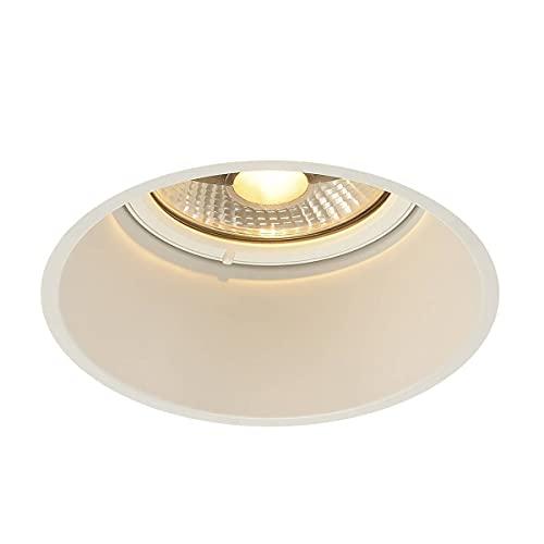 SLV LED Einbauleuchte HORN-T, rund, weiß, Dimmbarer Deckenstrahler, Innen-Beleuchtung, LED Spots, Deckenleuchte, Einbau-Spot, Decken-Spots, Einbau-Strahler, 1-strahlig, GU10 QPAR111