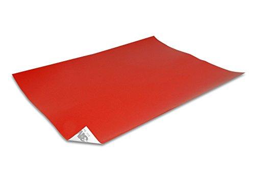 DonDo 3M 610C Reflektierendes Klebeband Reflexfolie Reflektorfolie Bogen Rot 250x180mm