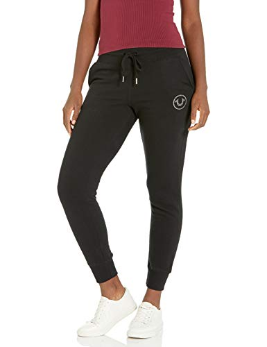 True Religion Damen Circle High Rise Slim fit Jogger Sweatpant Trainingshose, schwarz, Groß
