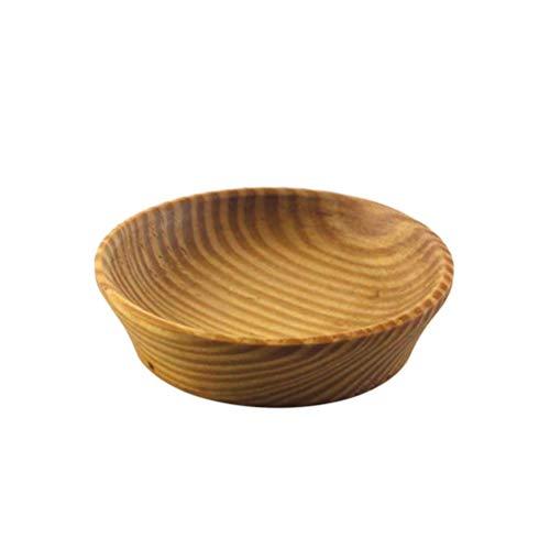 BESTONZON 1 st såsrätter hållbara trämat doppning kryddskål förrättstallrik såsskål för buffé hem restaurang