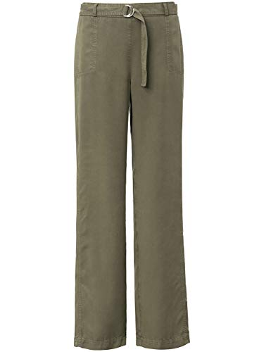 BASLER Damen Hose mit Bindegürtel und Taschen