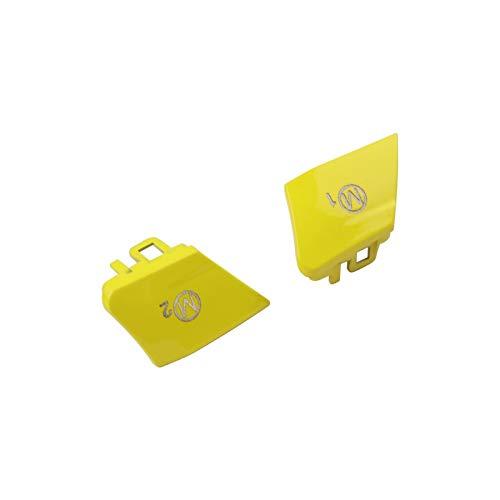 FSLLOVE FANGSHUILIN Auto-Lenkrad M1 M2 Switch-Taste Fit für BMW M3 F80 / M4 F82 F83 / M5 F10 / M6 F06 / x5m F15 / x6m F16 Ersatzabdeckungskappe (Color : Yellow)