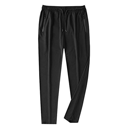 unknow CHENLUO Pantalones de chándal para hombre de seda de hielo delgada...