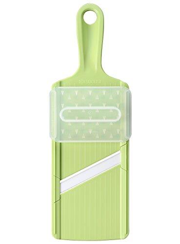 Kyocera Mandoline Japonaise Slicer Cuisine Lame Céramic avec Protége Doigt - Couleur Verte