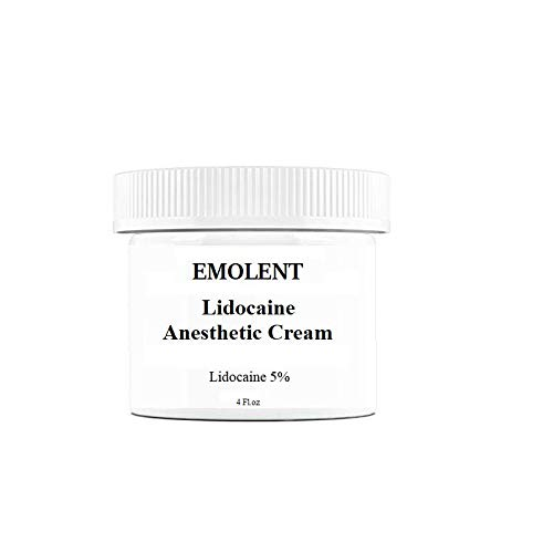 EMOLENT, 5% Lidocaine Pain Relief Cream, 4 fl.oz, (Packaging May Vary)