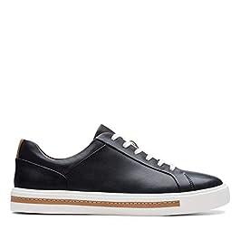 Clarks Un Maui Lace Leather Shoes in Black