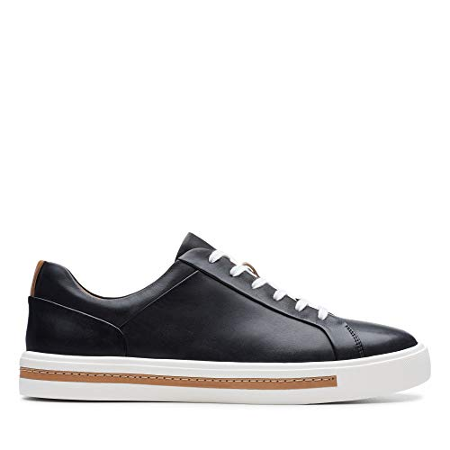 Clarks Damen Un Maui Lace Sneaker, Schwarz (Black Leather), 38 EU