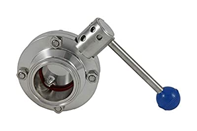 """Brewers Hardware 2"""" Tri Clover Compatible Butterfly Valve (Pull Trigger) by Brewers Hardware"""