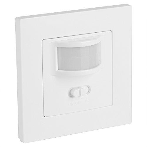 Bewegungsmelder Lichtschalter, 2-in-1 Wandeinbau Ein/Aus Schalter und Infrarot PIR Schalter für die Flurküche in der Treppe