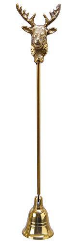 zeitzone Kerzenlöscher Rentier Gold Weihnachten Flammenlöscher Dochtlöscher Nostalgie 29cm