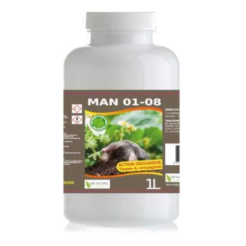Bio Natural Protect Man 01-08 500ML Anti Taupes ET CAMPAGNOLS (Rat TAUPIER)