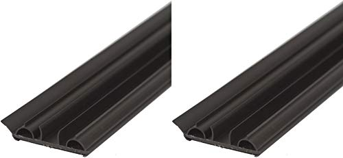 M-D Building Products 47000 M-D Door Bottom, 36 in L X 1-3/4 in W X 1/2 in H, PVC, quot, Brown 2 Pack