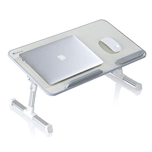 YXB Zusammenklappbarer Nachttisch Zusammenklappbarer Frühstückstisch Tragbarer vertikaler Schreibtisch Notebook Ständer Leserahmen Sofaboden Einfache Kindermode Studiertisch (Größe: 60x33 x 24 m
