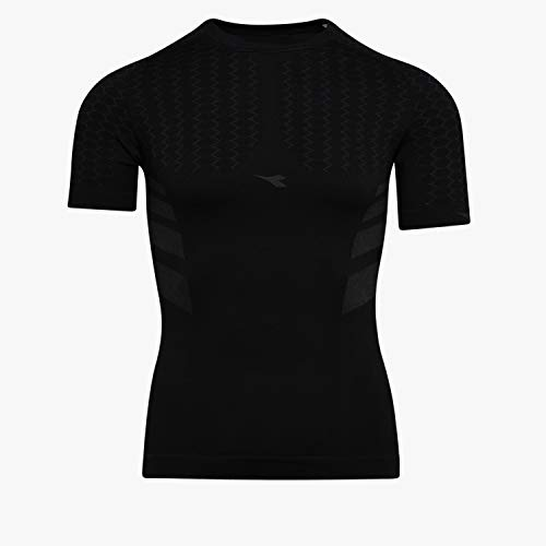 Diadora Maglia Intima Termica Manica Corta Hidden Power SS T Shirt Act (L/XL, Black)