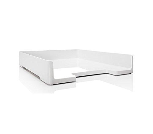 SIGEL SA107 Vaschetta portacorrispondenza Eyestyle, bianco, per A4, in finitura high gloss, 1 pz.