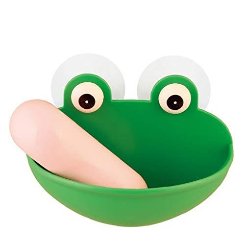 1 soporte para platos de silicona portátil con ventosa de pared y esponja de drenaje para baño, para ducha, cocina, encimera, accesorios de jardinería para el hogar