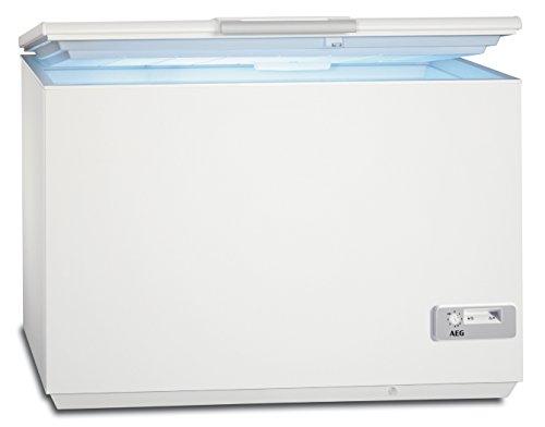 AEG AHB92231LW Gefriertruhe / 223 L / LowFrost – weniger Eisbildung / Quick-Türöffnung / Temperaturalarm / Rollen