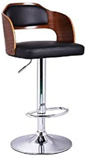 Christies Home Living Bentwood Adjustable Curved Seat - Black / Walnut
